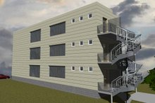 Home Plan - Contemporary Exterior - Rear Elevation Plan #535-19