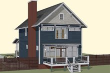 Dream House Plan - Craftsman Exterior - Rear Elevation Plan #79-273