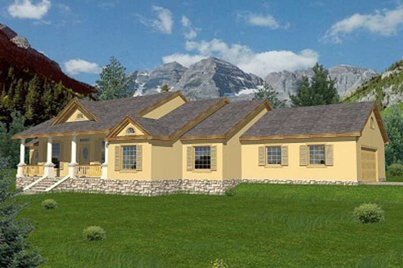 Home Plan - Traditional Exterior - Front Elevation Plan #117-164