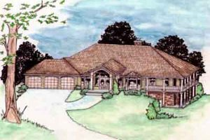 Traditional Exterior - Front Elevation Plan #117-187