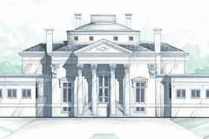 Classical Exterior - Front Elevation Plan #119-191
