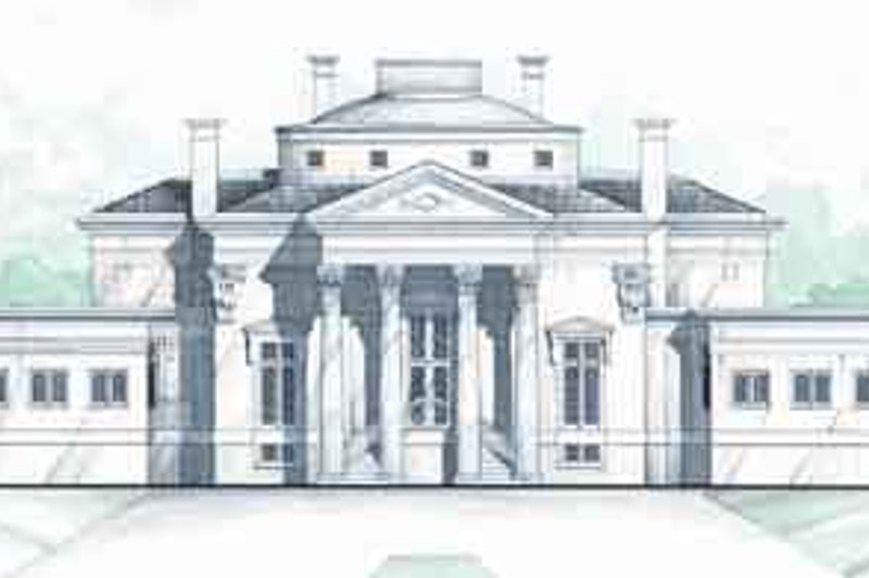 Classical Exterior - Front Elevation Plan #119-191 - Houseplans.com