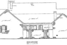 Dream House Plan - Traditional Exterior - Rear Elevation Plan #14-101