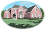 European Style House Plan - 3 Beds 3.5 Baths 3703 Sq/Ft Plan #81-1249