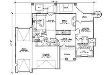Floor Plan - Main Floor Plan Plan #5-461