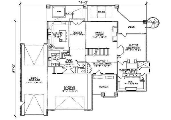 House Plan Design - Floor Plan - Main Floor Plan #5-461