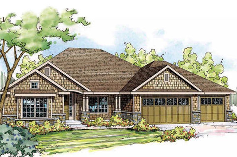 Craftsman Exterior - Front Elevation Plan #124-840