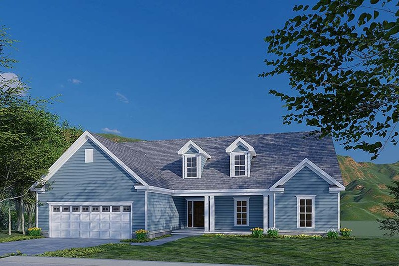 Traditional Style House Plan - 3 Beds 3.5 Baths 2088 Sq/Ft Plan #923-177 Exterior - Front Elevation