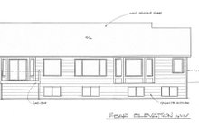 Dream House Plan - Ranch Exterior - Rear Elevation Plan #58-196