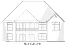 European Exterior - Rear Elevation Plan #923-3