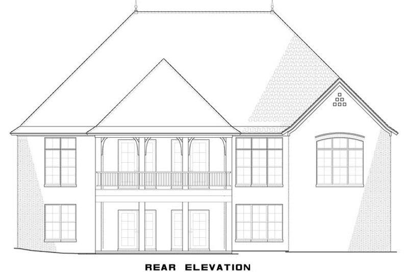 European Exterior - Rear Elevation Plan #923-3 - Houseplans.com
