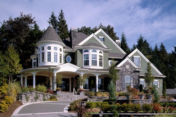 Victorian Style House, front elevation photo