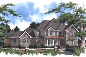 House Plan Design - Traditional Exterior - Front Elevation Plan #37-102