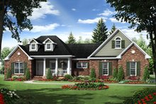 Southern Exterior - Front Elevation Plan #21-318