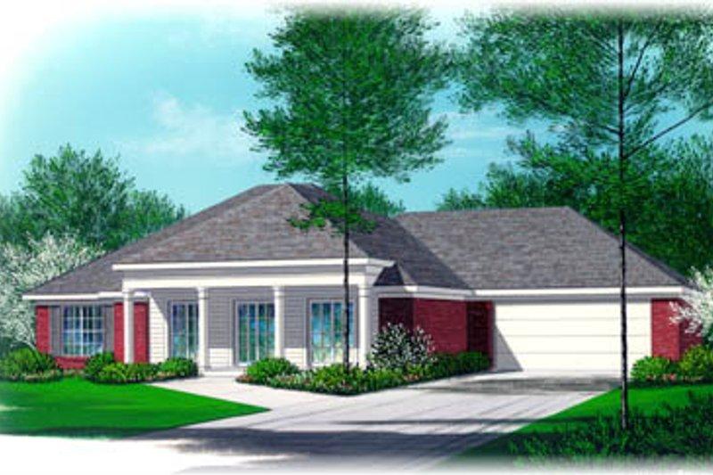 Southern Style House Plan - 3 Beds 2 Baths 1491 Sq/Ft Plan #15-105