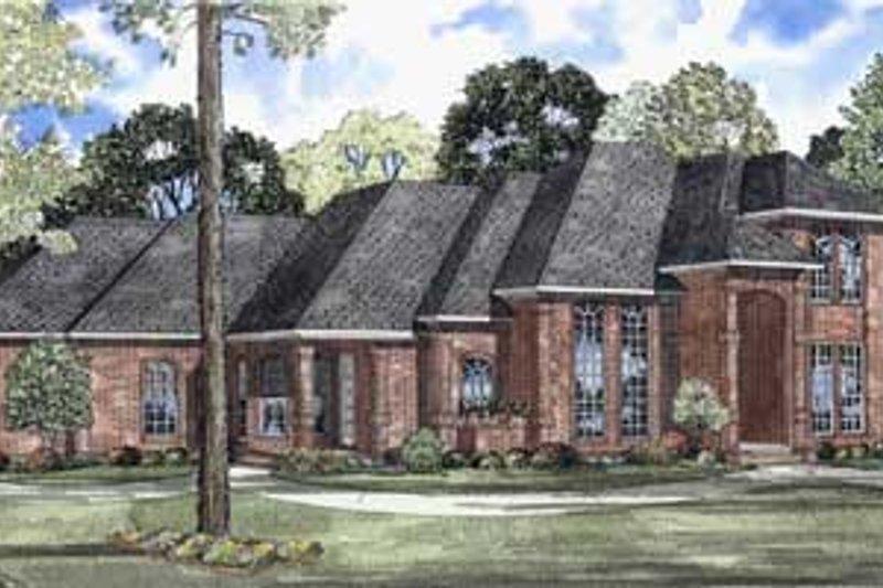 Architectural House Design - European Exterior - Front Elevation Plan #17-451