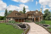 European Style House Plan - 3 Beds 3.5 Baths 4142 Sq/Ft Plan #48-625 Exterior - Front Elevation