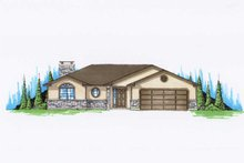 Ranch Exterior - Front Elevation Plan #5-231