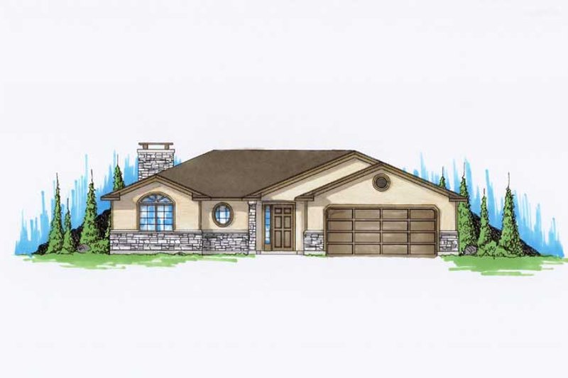 Dream House Plan - Ranch Exterior - Front Elevation Plan #5-231