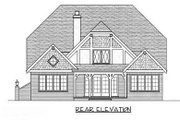 Cottage Style House Plan - 4 Beds 3 Baths 3773 Sq/Ft Plan #413-113 Exterior - Rear Elevation