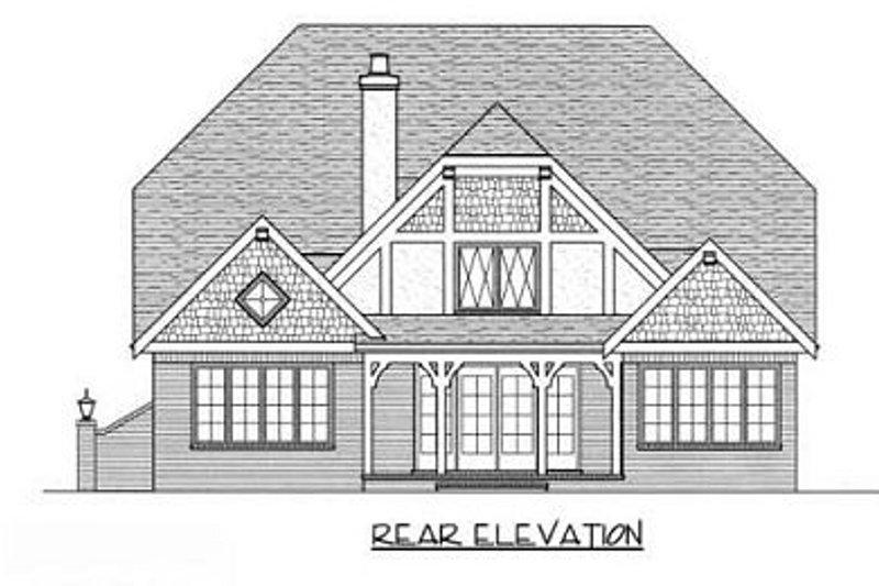 Cottage Exterior - Rear Elevation Plan #413-113 - Houseplans.com