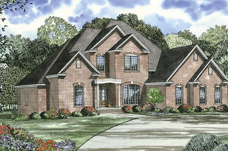 Dream House Plan - European Exterior - Front Elevation Plan #17-444
