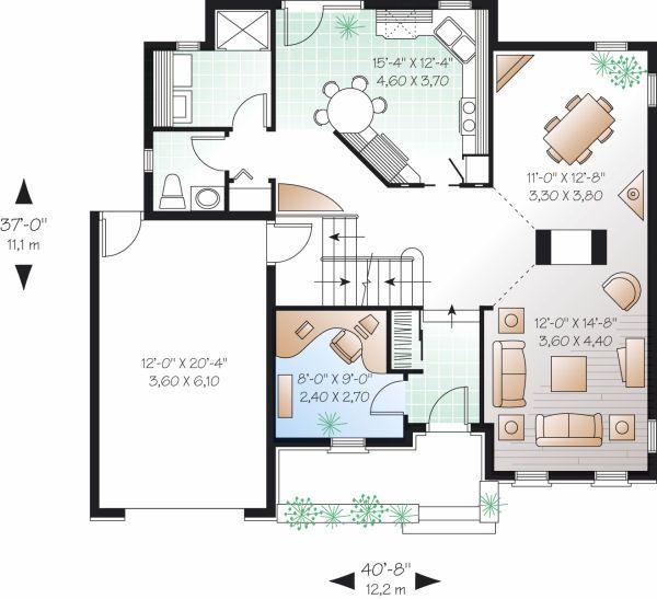 Traditional Floor Plan - Main Floor Plan Plan #23-802