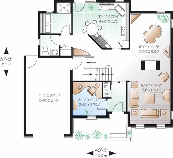 Dream House Plan - Traditional Floor Plan - Main Floor Plan #23-802