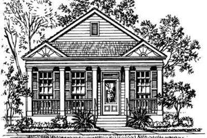 Southern Exterior - Front Elevation Plan #325-133