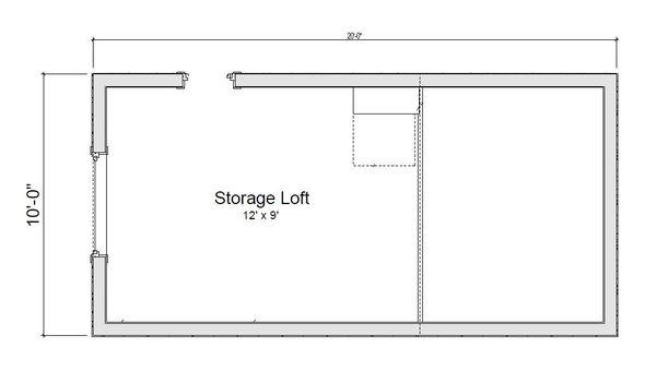 Modern Floor Plan - Upper Floor Plan #451-23