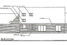 Country Exterior - Rear Elevation Plan #124-397