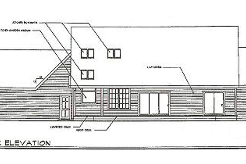 Country Exterior - Rear Elevation Plan #124-397 - Houseplans.com