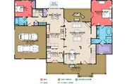 Country Style House Plan - 4 Beds 3 Baths 2565 Sq/Ft Plan #63-271 Floor Plan - Main Floor Plan