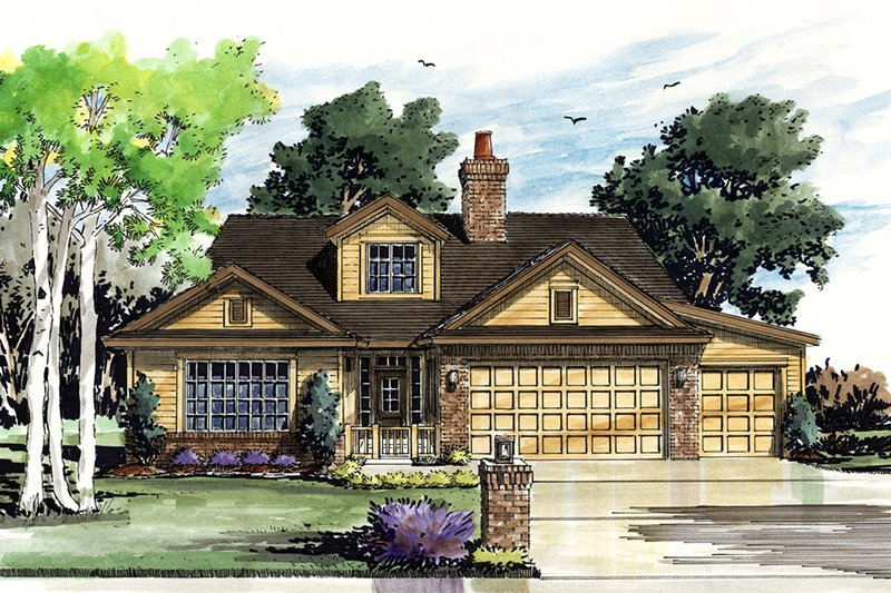 Home Plan - Cottage Exterior - Front Elevation Plan #942-42
