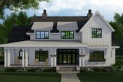 Farmhouse Style House Plan - 4 Beds 4.5 Baths 2913 Sq/Ft Plan #51-1153 Exterior - Front Elevation