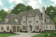 European Style House Plan - 4 Beds 4.5 Baths 4811 Sq/Ft Plan #453-53 Exterior - Front Elevation