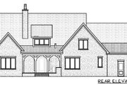 European Style House Plan - 4 Beds 3.5 Baths 3795 Sq/Ft Plan #413-799 Exterior - Rear Elevation
