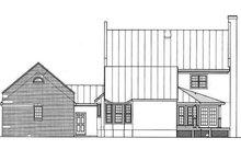 House Plan Design - Southern Exterior - Rear Elevation Plan #45-157