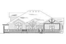 House Plan Design - European Exterior - Rear Elevation Plan #5-370
