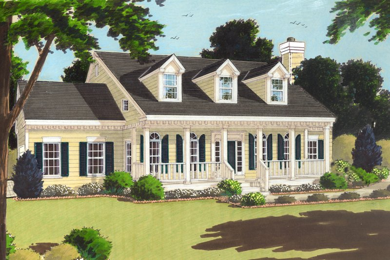 Dream House Plan - Southern Exterior - Front Elevation Plan #3-193