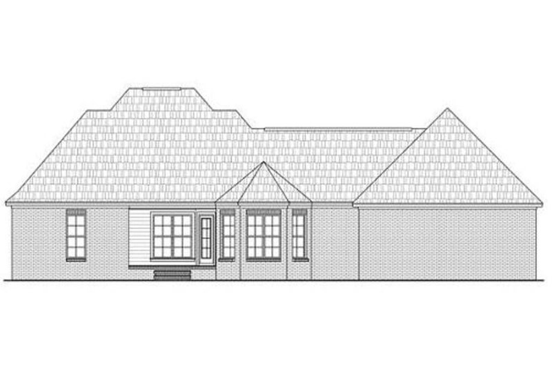 Southern Exterior - Rear Elevation Plan #21-277 - Houseplans.com