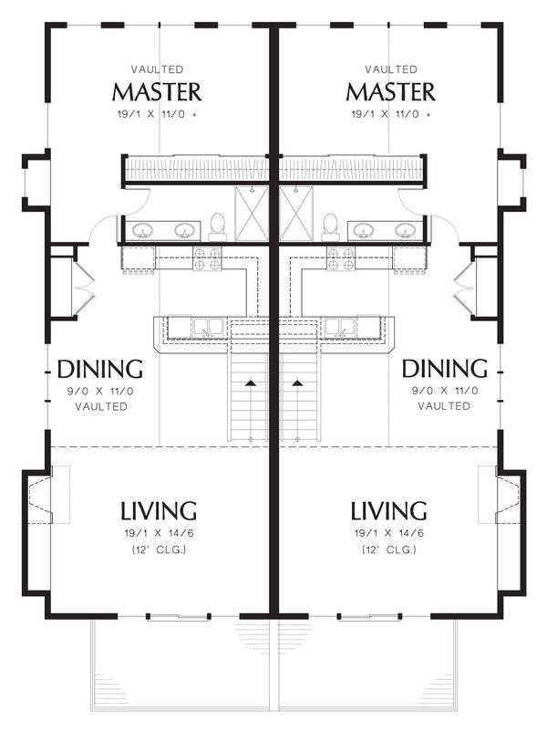 Modern Floor Plan - Upper Floor Plan Plan #48-628