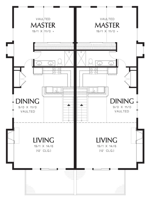 Modern Floor Plan - Upper Floor Plan Plan #48-628