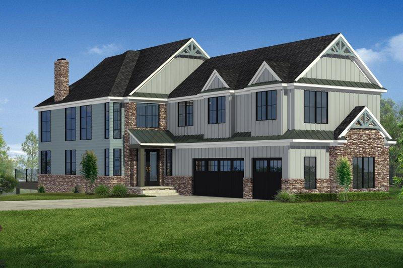 Dream House Plan - Craftsman Exterior - Front Elevation Plan #1057-30