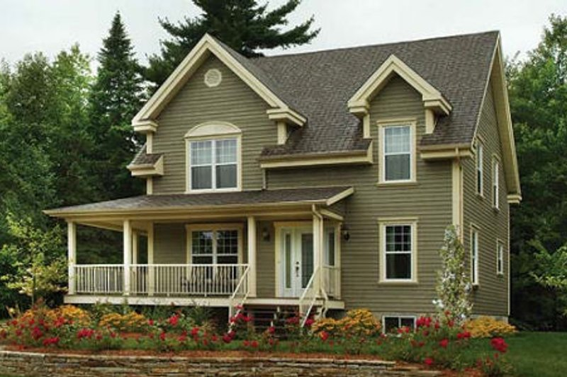 Home Plan - Country Exterior - Front Elevation Plan #23-487