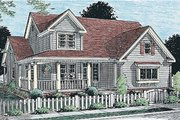 Farmhouse Style House Plan - 3 Beds 2.5 Baths 2005 Sq/Ft Plan #20-181 Exterior - Front Elevation