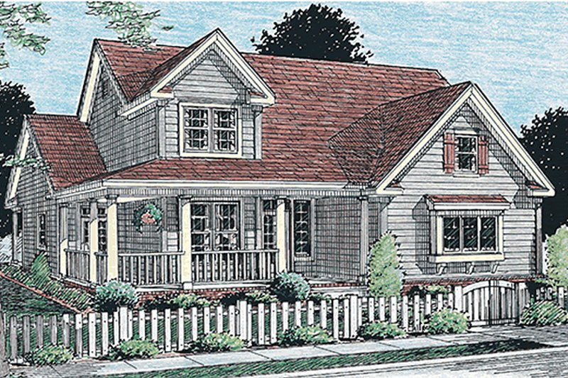 Home Plan - Farmhouse Exterior - Front Elevation Plan #20-181