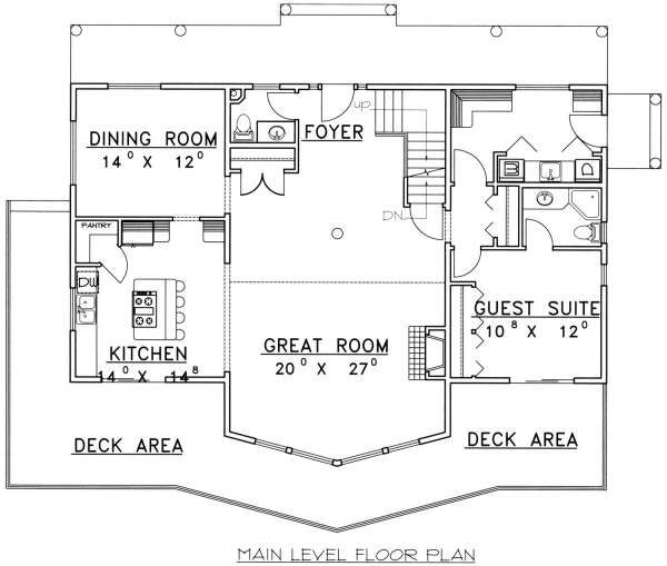 Cabin Floor Plan - Main Floor Plan Plan #117-573