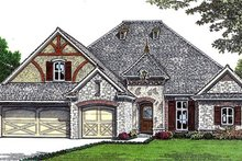 Home Plan - European Exterior - Front Elevation Plan #310-676
