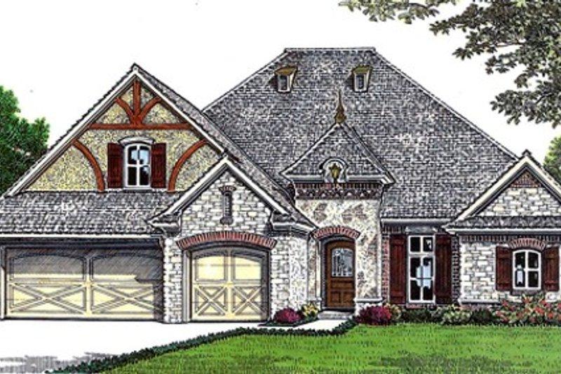 Dream House Plan - European Exterior - Front Elevation Plan #310-676